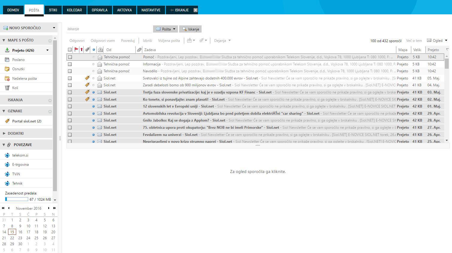 504f661b9b7 Pošta - Pomoč in podpora - Telekom Slovenije